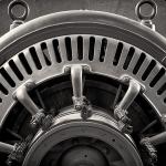 Fine Art Foto schwarz weiss alter Generator