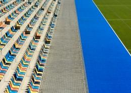Hockey Stadion, abstrakte Fotografie