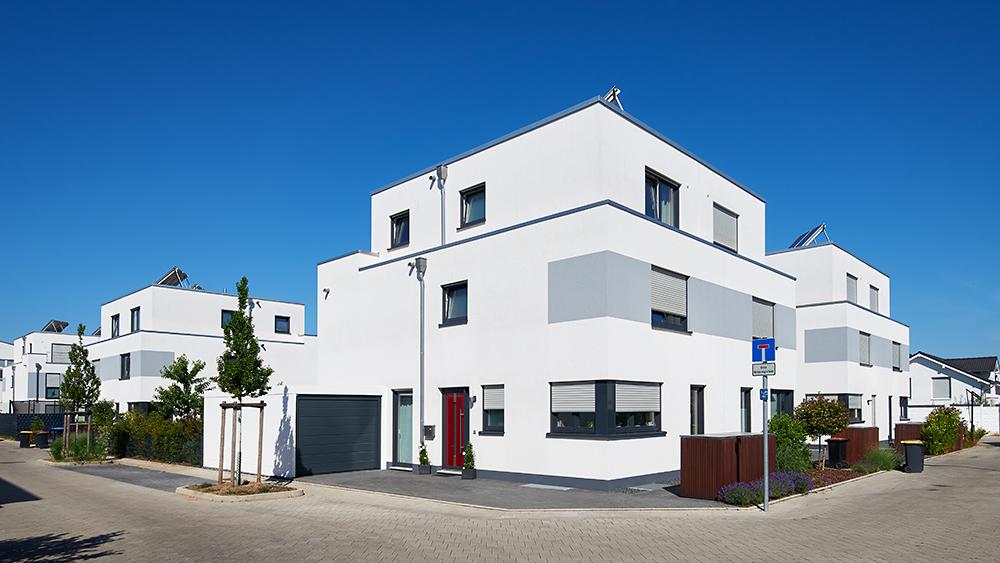 Neubaugebiet Koeln, Architekturfoto, Immobilienfotografie